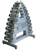 Хромированные гантели со стойкой 1-10 кг Luxon sport