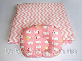 """Плед для новонародженого + подушка, """"Полярні ведмеді"""""""