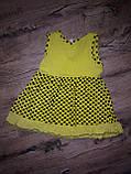 Яркое платье для маленькой девочки 1-2 года, фото 2