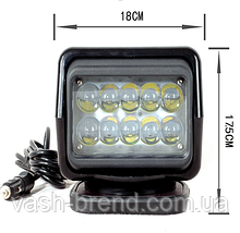Прожектор LED 4000lm черный 12В