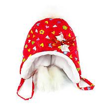 Шапка плащ-мутон-1 красная