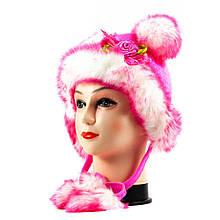 Шапка мини розовая