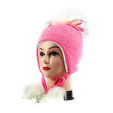 Шапка волосатик розовая