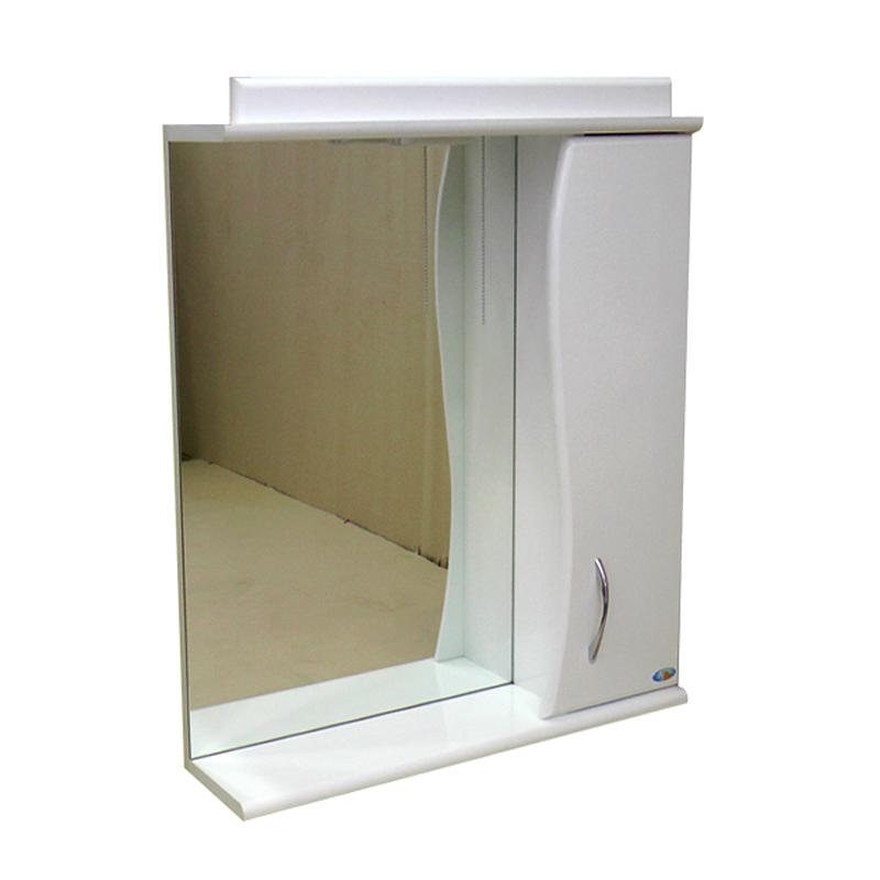 Зеркало АкваСан с подсветкой 50 см Белое