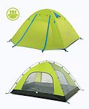 Двухслойная,4-х местная палатка с алюминиевыми дугами, зеленая., фото 3