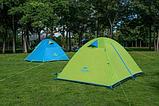 Двухслойная,4-х местная палатка с алюминиевыми дугами, зеленая., фото 5