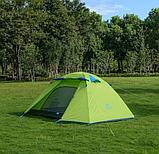 Двухслойная,4-х местная палатка с алюминиевыми дугами, зеленая., фото 6