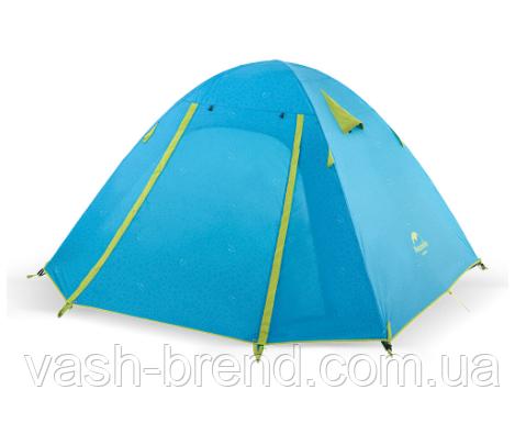 Двухслойная, 4-х местная палатка с алюминиевыми дугами, P-Series, синяя