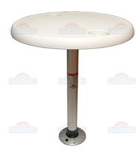 Комплект стол круглый, диаметр 68см основание алюминий с замком