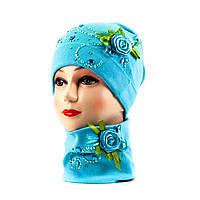 Трико шапка-бафф голубой