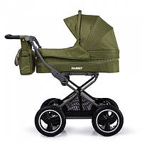 Универсальная коляска TILLY Family - Green. Резиновые колеса