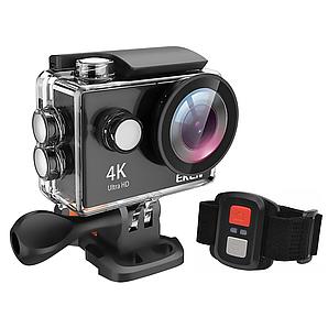 Экшн-камера Eken H9R 4K с пультом управления, набором креплений и аквабоксом