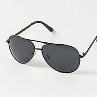 Мужские  поляризационные очки  (арт. P9100/1) с черной оправой