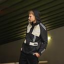Ветровка (куртка весенняя) мужская черная с бежевым со светоотражателями ТУР Рейвен (Raven) размер S, M, L, XL, фото 2