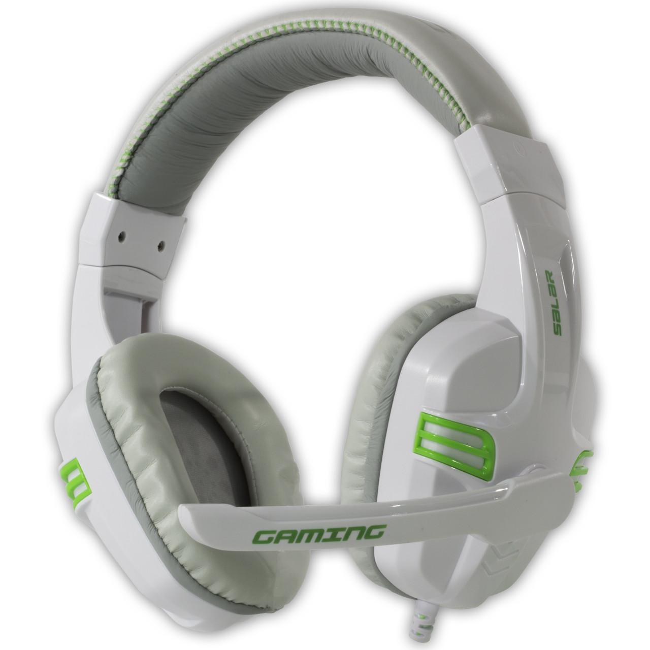 Игровая гарнитура SALAR KX101 Белый с микрофоном стерео 3.5 jack для игр геймеров пк игровые наушники