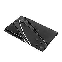 Нож кредитка Lesko сувенирный походный для самообороны универсальный тактический, фото 2