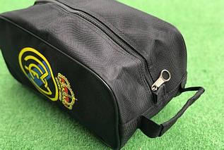 Сумка спортивная (барсетка) для обуви Реал Мадрид черная