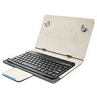 """Чехол Lesko 10.1"""" + kayboard WL Black с беспроводной клавиатурой для планшета надежный прочный Блютуз"""