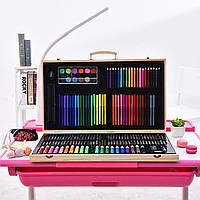 Набор для рисования Painting Set 180 предметов Чемоданчик Карандаши Краски Палитра Степлер