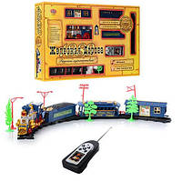 Игрушка для мальчика Детская железная дорога 0620 на радиоуправлении (свет, звук,двигается вперед и назад)