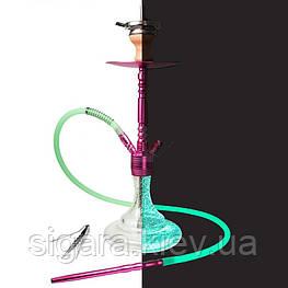 Кальян Smokah Jump рожева шахта/прозора колба(світиться в темряві)