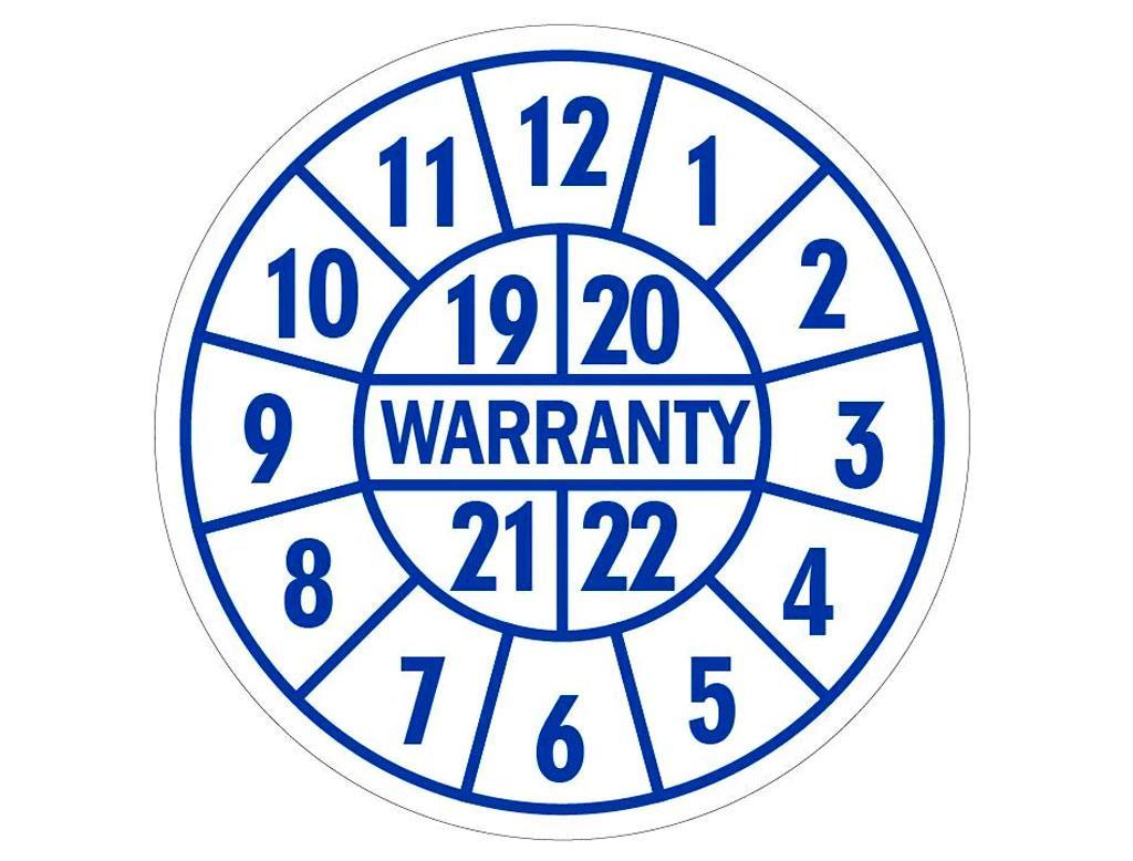 Гарантийные стикеры Warranty 19-22г лист 50шт