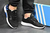 Кроссовки мужские в стиле Adidas Climacool M код товара SD-5327. Черно-белые с синим