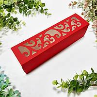 Коробка для макарунс  красная 200х50х50 мм.