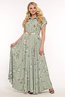 Платье Алена оливка