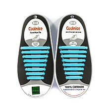 Силіконові шнурки 8х8 блакитні