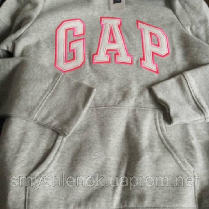 Толстовка ОРИГИНАЛ! для девочки серый меланж, 10-11 лет, Gap