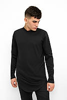 Свитшот мужской удлиненный Side x black / кофта весенняя осенняя / ЛЮКС качества, фото 1