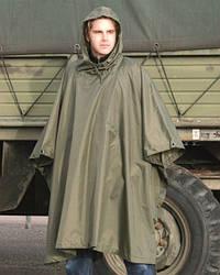 Плащ -палатка, Пончо армейское Ripstop Olive, Mil-Tec 10630001
