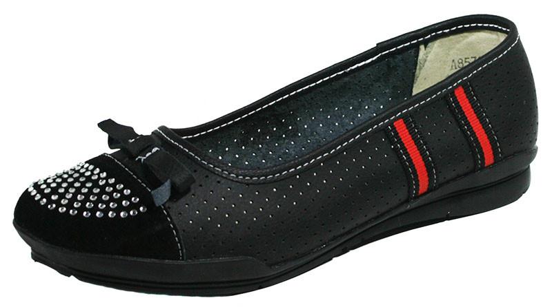 Балетки жіночі літні Comfort чорний 03129 (37)