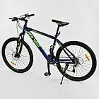 Велосипед Спортивный CORSO 26 дюймов JYT 003-9720 GTR-3000 21 скорость сине-зеленый, фото 3