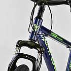 Велосипед Спортивный CORSO 26 дюймов JYT 003-9720 GTR-3000 21 скорость сине-зеленый, фото 7