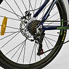 Велосипед Спортивный CORSO 26 дюймов JYT 003-9720 GTR-3000 21 скорость сине-зеленый, фото 4