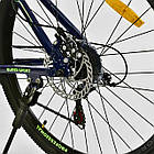 Велосипед Спортивный CORSO 26 дюймов JYT 003-9720 GTR-3000 21 скорость сине-зеленый, фото 8