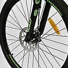 Велосипед Спортивный CORSO 26 дюймов JYT 003-9720 GTR-3000 21 скорость сине-зеленый, фото 9