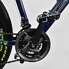 Велосипед Спортивный CORSO 26 дюймов JYT 003-9720 GTR-3000 21 скорость сине-зеленый, фото 10