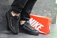 Кроссовки мужские в стиле Nike Supreme, резина, текстиль код SD1-7018. Черные