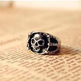 Кольцо Череп в когтях орла бронза, фото 4