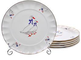 Набор из 6 обеденных, закусочных тарелок Гуси 20 см Lefard 943-178