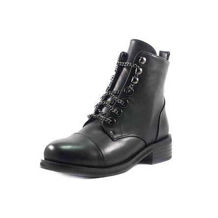 Ботинки демисезон женские Fabio Monelli W1470-703A черные (38), фото 2