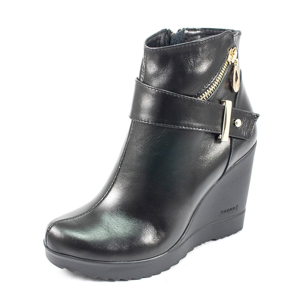 Ботинки демисез женск Vakardi V54D черная кожа (37)