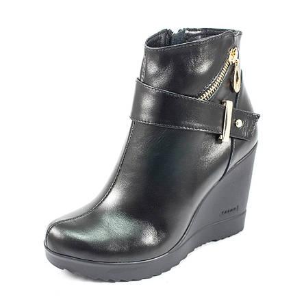 Ботинки демисез женск Vakardi V54D черная кожа (37), фото 2