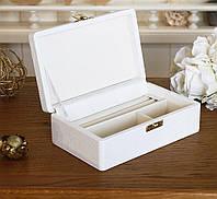 Скринька для ювелірних прикрас 17,8*11*6 603430 біла, фото 1