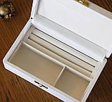 Шкатулка для ювелирных украшений 17,8*11*6 603430 белая, фото 3