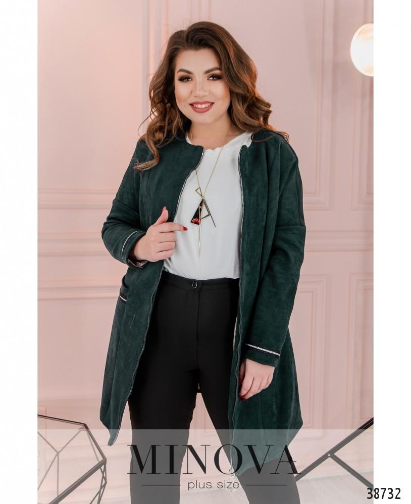 Женская куртка ветровка Трикотажная замша на подкладе Размер 54 56 58 60 62 64 В наличии 4 цвета