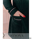 Женская куртка ветровка Трикотажная замша на подкладе Размер 54 56 58 60 62 64 В наличии 4 цвета, фото 3